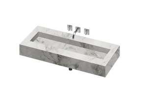 Silence 1200 Double Bowl One-piece Vanity Sink - PEARL Canada