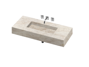 Silence 900 Single Bowl One-piece Vanity Sink