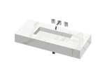 Silence 900 Single Bowl One-piece Vanity Sink - PEARL Canada