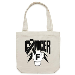 Melanoma Cancer Canvas Tote Bag