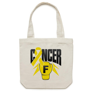 Sarcoma Cancer Canvas Tote Bag