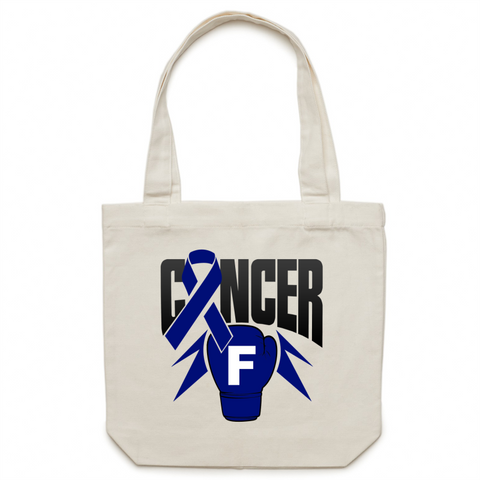 Bowel Cancer Canvas Tote Bag
