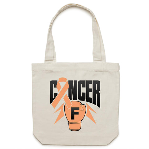 Uterine Cancer Canvas Tote Bag