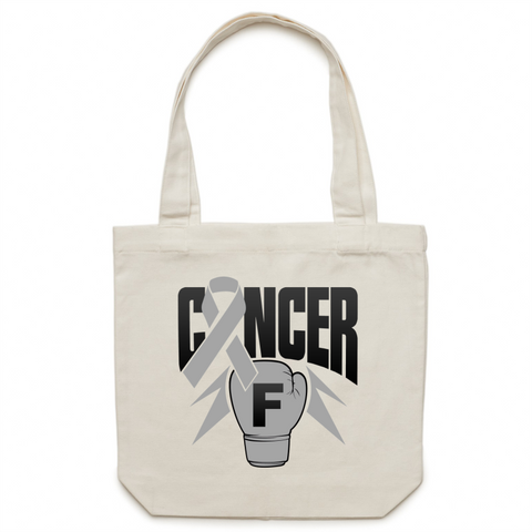 Brain Cancer Canvas Tote Bag