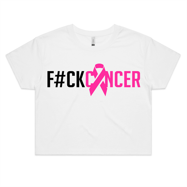 F#CK Breast Cancer Womens Crop Tee