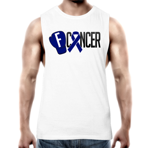 Bowel Cancer Mens Tank Top Tee