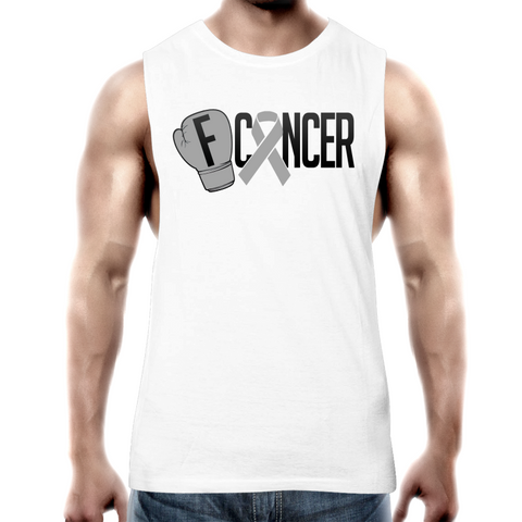 Brain Cancer Mens Tank Top Tee
