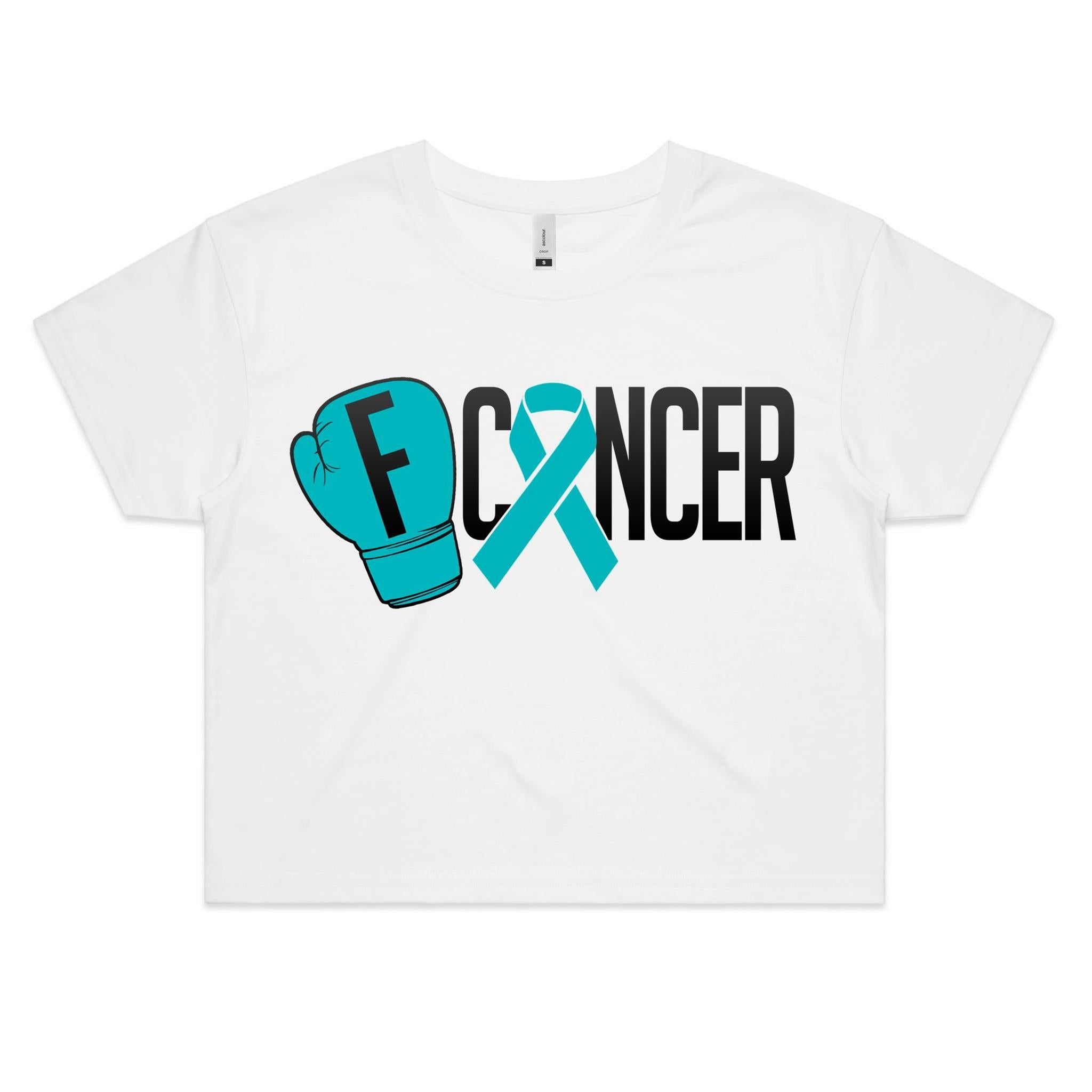 Ovarian Cancer Womens Crop Tee