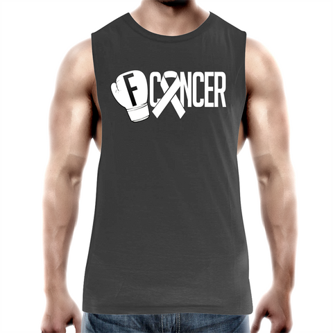 Lung Cancer Mens Tank Top Tee