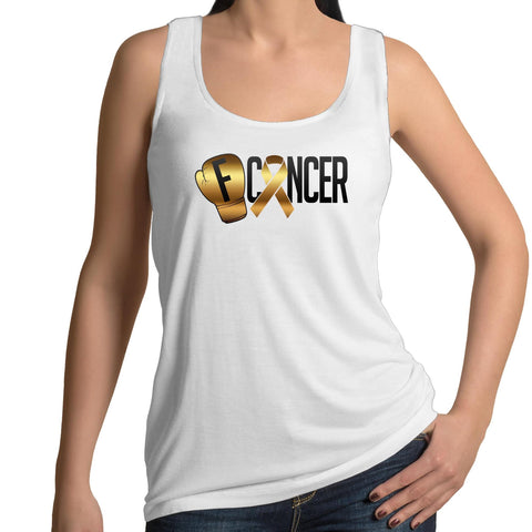 Childhood Cancer Womens Singlet