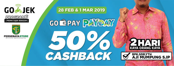 GO-PAY Payday Cashback 50% | 28 Feb - 1 Maret 2019