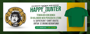 Happy Hunter - Celebrate The New Website Design