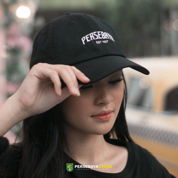 Topi Polo Cap Stitch - Black