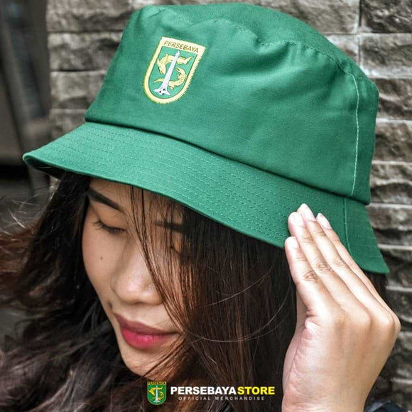 Topi Bucket Hat Logo Patch