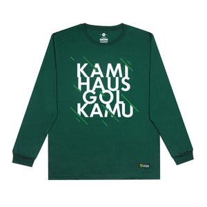 T-shirt Simple KHGK Long Sleeve - Green