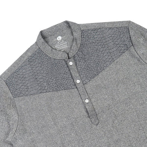 Baju Koko WANI Long Sleeve - Dark Grey