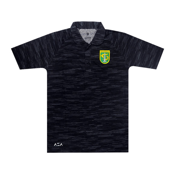 Polo Shirt Gravity Pattern - Black