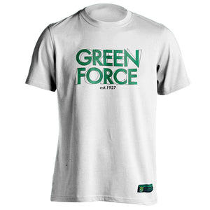 T-shirt Green Force Illusion - White