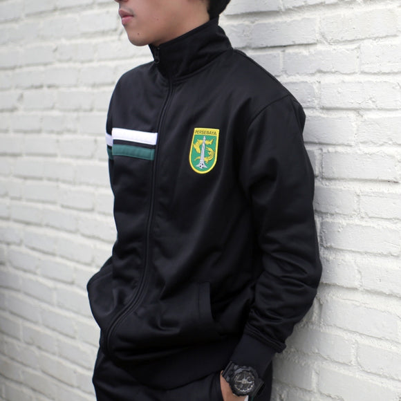 Jaket Tracktop Two Strip - Hitam