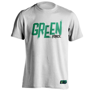 T-shirt Green Force Typo Brush - White