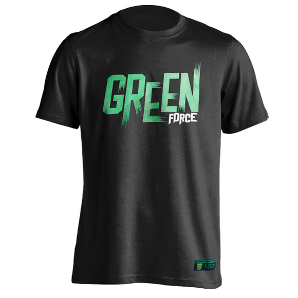 T-shirt Green Force Typo Brush - Black