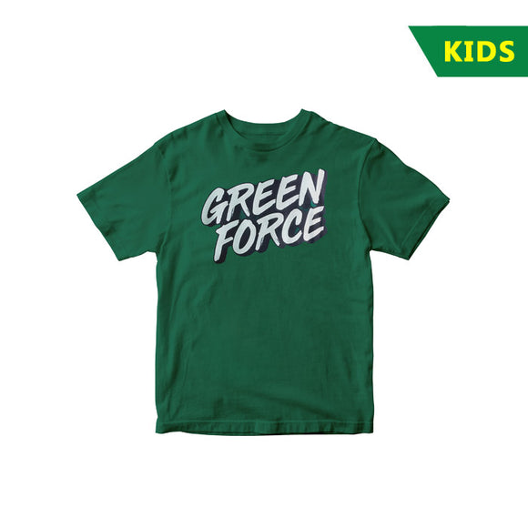 T-shirt Green Force Simple Glow - Kids