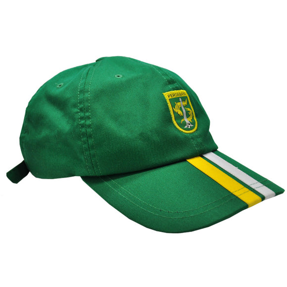 Topi Polo Cap Two Strip - Green