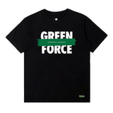 T-Shirt Green Force Splash - Black