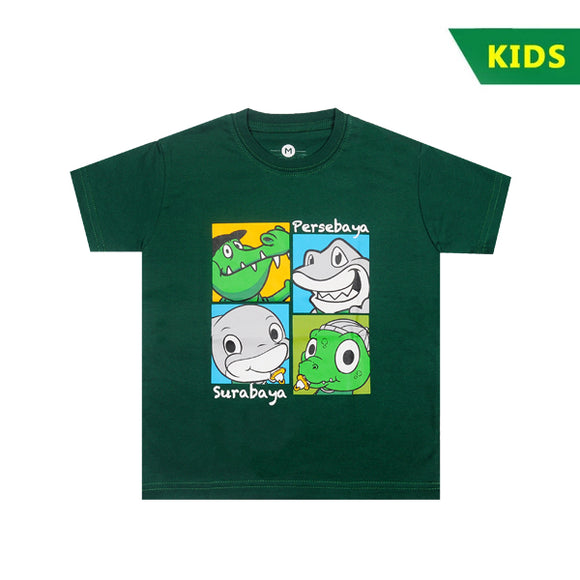 T-shirt Kids Jojo Zoro Collage Green