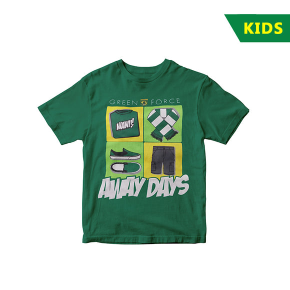 T-shirt Green Force Away Days - KIDS