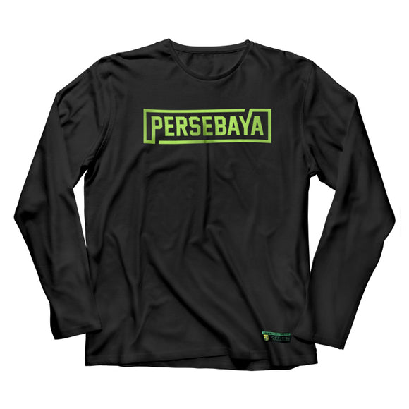 T-shirt Long Sleeve Simple Graphic - Black
