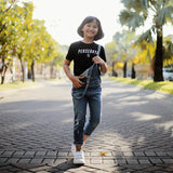 T-shirt Kids Reflector - Black