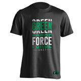 T-shirt Green Force Visual - Black