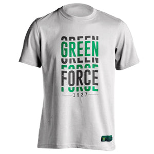 T-shirt Green Force Visual - White
