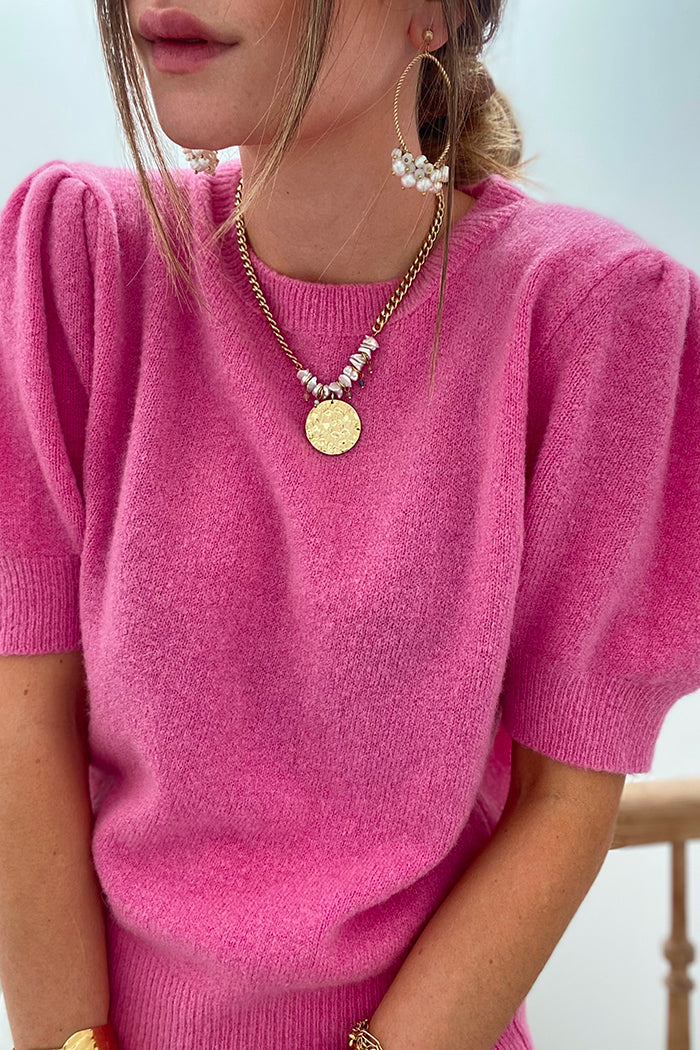 Le pull Hannelore rose