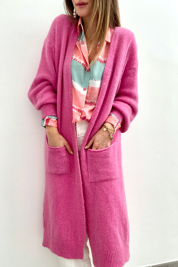 Le long gilet Henrika rose