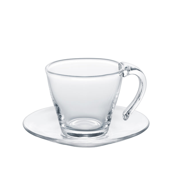 BAL'S TABLE - Cup and saucer Clear, 9.8oz