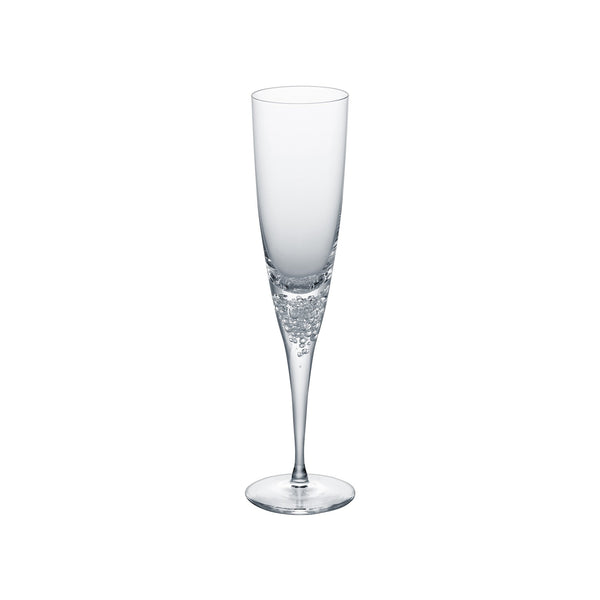 3 TYPE OF BUBBLES - Champagne Glass Clear, 4.7oz