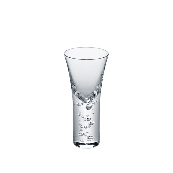 3 TYPE OF BUBBLES - Sake Glass Clear, 1.7oz