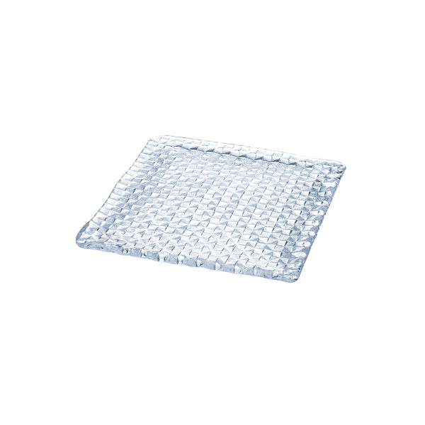 GRID PLATE - Square Plate Clear, 9.4inch