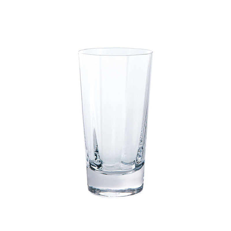 Kirameki Glass (Vertical 8 Lines), Tall - Clear, 7.1oz
