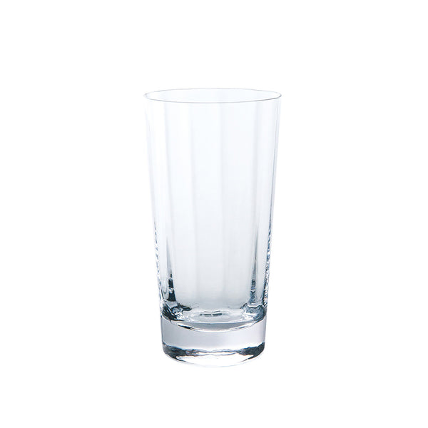 Kirameki Glass (Vertical 12 Lines), Tall - Clear, 7.1oz