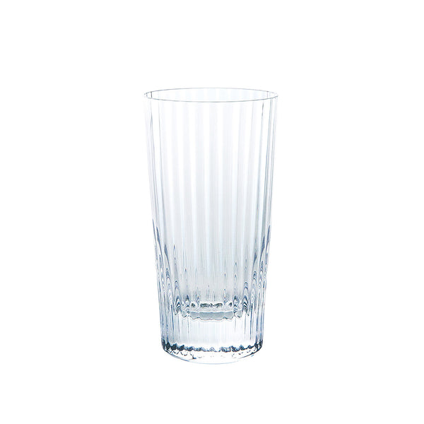 Kirameki Old Glass (Vertical 32 Lines), Tall - Clear, 7.1oz