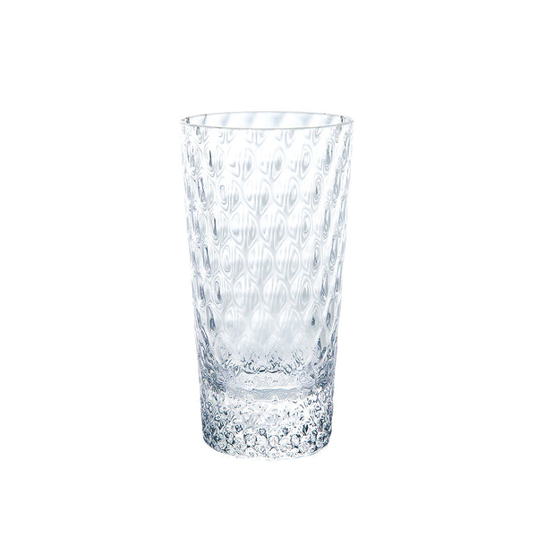 Kirameki Glass (Grid), Tall - Clear, 7.1oz
