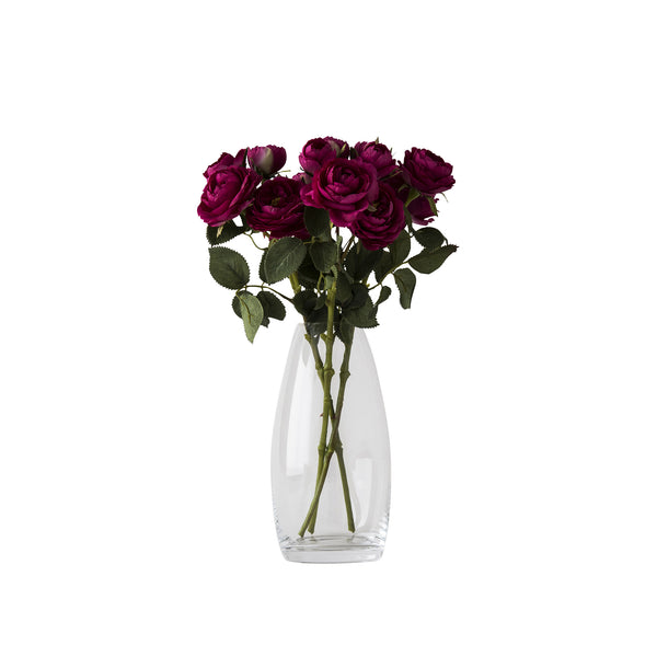 LILAS - Wide Ribbed Vase Clear