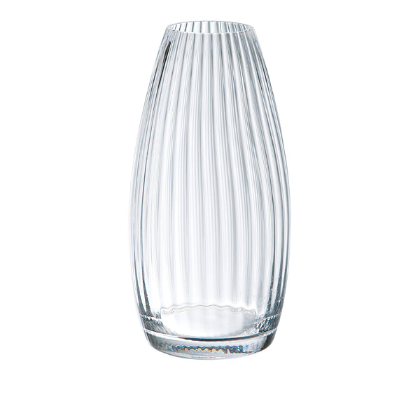 lilas Wide Ribbed Vase - Clear