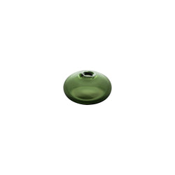 MINI VASE - Flat Round Bud Vase, Forest Green