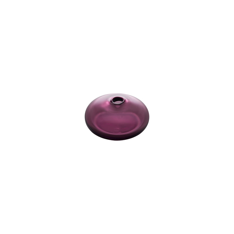 MINI VASE - Flat Round Bud Vase, Wine Red