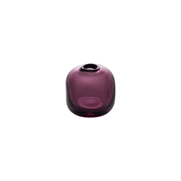 MINI VASE - Cube Riverstone Vase, Wine Red