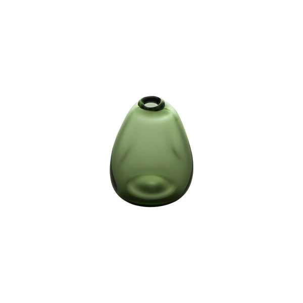 MINI VASE - Tall Triangle Stone Vase, Forest Green